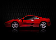 Supercar Digital Art - Ferrari Red - 355  F1 Berlinetto by Douglas Pittman