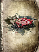 Shirt Mixed Media Posters - Ferrari Poster by Svetlana Sewell