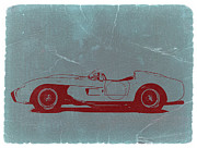 Old Car Digital Art - Ferrari Testa Rosa by Irina  March