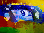 Ferrari Prints - Ferrari Testarossa Watercolor Print by Irina  March