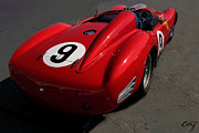 Indy Car Prints - Ferrari TR 250 1959 Right Rear Print by Curt Johnson