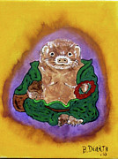 Ferret Framed Prints - ferret Buddha Framed Print by Brian Dearth