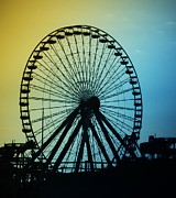 Ferris Posters - Ferris Wheel - Wildwood New Jersey Poster by Bill Cannon