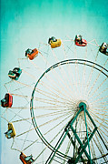 Fairgrounds Framed Prints - Ferris Wheel 2 Framed Print by Kim Fearheiley