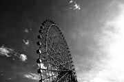 Black Arts Framed Prints - Ferris Wheel Against Sky Framed Print by Kiyoshi Noguchi