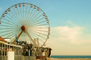 Wildwood Framed Prints - Ferris Wheel Framed Print by Amanda Romolini