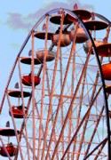 Fair Photo Posters - Ferris Wheel at Sunset Poster by Joe Kozlowski