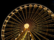 Rides Prints - Ferris wheel Print by Bernard Jaubert