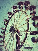 Christy Bruna Art - Ferris Wheel by Christy Bruna