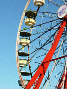 Ferris Wheels Framed Prints - Ferris Wheel Closeup Framed Print by Susan Savad