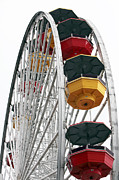 Monica Framed Prints - Ferris Wheel Colors Framed Print by John Rizzuto