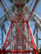 Support Framed Prints - Ferris Wheel Detail Framed Print by Yali Shi