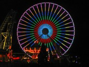 Wildwood Photos - Ferris Wheel in Wildwood New Jersey by Denise Keegan Frawley