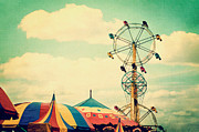 Fairgrounds Framed Prints - Ferris Wheel Framed Print by Kim Fearheiley