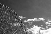 Black And White Photography Metal Prints - Ferris Wheel Metal Print by Kiyoshi Noguchi