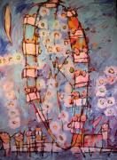 Amusement Park Ride Painting Originals - Ferris Wheel of Life SOLD by Charlie Spear