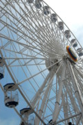 Amusements Posters - Ferris Wheel Skyward Poster by Joyce StJames