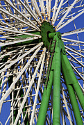 Amusements Framed Prints - Ferris Wheel  Framed Print by Stylianos Kleanthous