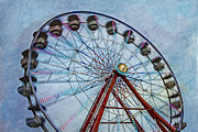 Night Prints - Ferris Wheel Print by Susan Candelario