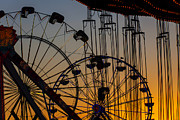 Ferris Wheels Framed Prints - Ferris Wheels Framed Print by Garry Gay