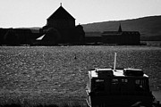Lough Prints - ferry and station island at Lough Derg pilgrimage site county donegal ireland Print by Joe Fox