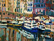 Boats Paintings - Ferry by Brian Simons