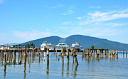 Reflections Art - Ferry Dock In Anacortes WA  3 by Tanya  Searcy