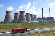 Chimneys Posters - Ferrybridge Power Station Poster by Mark Sykes