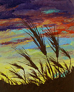 Blowing Paintings - Fertile Fields by Sandy Tracey
