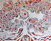 Tree Roots Paintings - Fertility Tree by Michelle Grove
