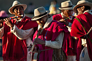 Music Photos - Festival of music and traditional dances. Population of Compi. Republic of Bolivia. by Eric Bauer