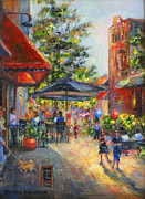 Flags Paintings - Festival on the Square by Brenda Brannon