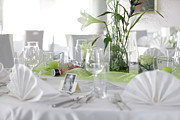 Wedding Preparation Posters - Festive Table In A Restaurant Poster by Stock4b-rf