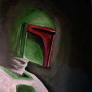 Boba Fett Paintings - Fett by Chris  Leon