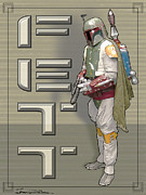 Star Wars Mixed Media Prints - Fett Print by Jerrett Dornbusch
