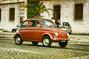 Beautiful Car Framed Prints - Fiat 500 Framed Print by Hristo Hristov