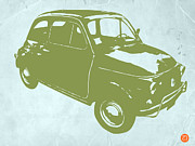 Old Paper Art Prints - Fiat 500 Print by Irina  March