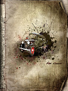 Wheels Mixed Media Posters - Fiat Classic Poster by Svetlana Sewell
