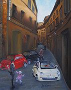 Cityscape Paintings - Fiat Generations by Leah Wiedemer
