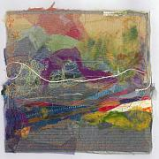 Sewing Mixed Media - Fiber Landscape 1 by Kim Iberg