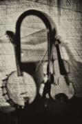 Fiddle Digital Art - Fiddle and Mandolin Banjo by Bill Cannon