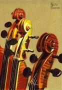 Violin Pastels - Fiddle Heads by Keith Gantos