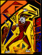 Surreal - Fiddler 40x30 by Hans Magden