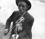 Candid Portraits Prints - Fiddlin Bill Henseley, Mountain Print by Everett