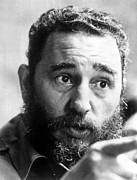 Fiend Framed Prints - Fidel Castro, Circa 1977 Framed Print by Everett