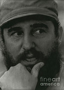 Charismatic Framed Prints - Fidel Castro, Cuban Revolutionary Framed Print by Photo Researchers