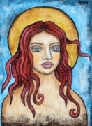 Christian Art . Devotional Art Painting Prints - Fidelia Print by Rain Ririn