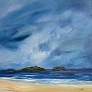 North Sea Paintings - Fidra by Margaret Denholm
