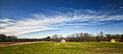Fredricksburg Prints - Field and Sky Print by Jim Moore