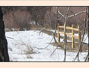 Split Rail Fence Prints - Field Fence Print by Gretchen Wrede